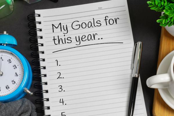 List of goals for the New Year